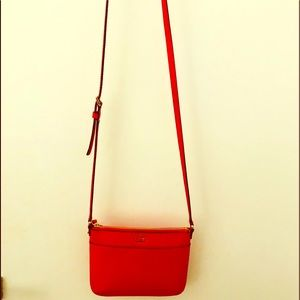 Kate Spade Orange Red Crossbody Small Bag